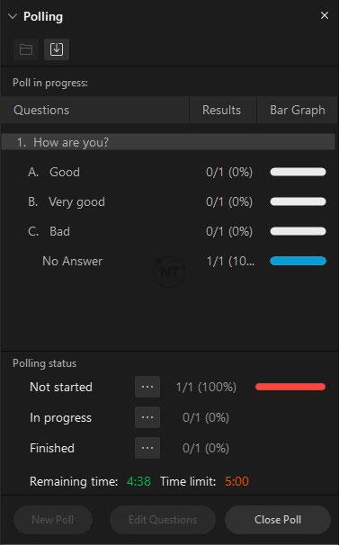 cài đặt thời gian khảo sát ý kiến người tham gia trên webex meetings