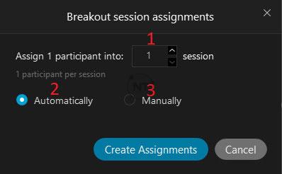 Tạo phòng họp đột phá (Breakout Room) trên webex meetings