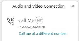Gọi từ một số khác trên Webex meetings