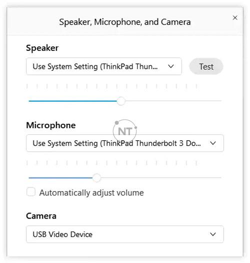 cách Kết nối với Webex Audio