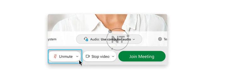 Trong một số cuộc họp, Người chủ trì (Host) có quyền không cho phép attendees (người dự thính) tự bật tiếng. Nếu bạn bị tắt tính năng bật tiếng, tính năng Unmute
