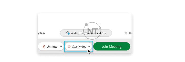 Nếu bạn muốn tham gia cuộc họp với video đã tắt, hãy nhấp vào Stop video