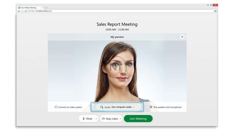 Những tính năng chính của Webex Meetings Web App