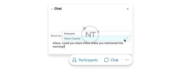 Chat với những người khác trong webex meetings web app
