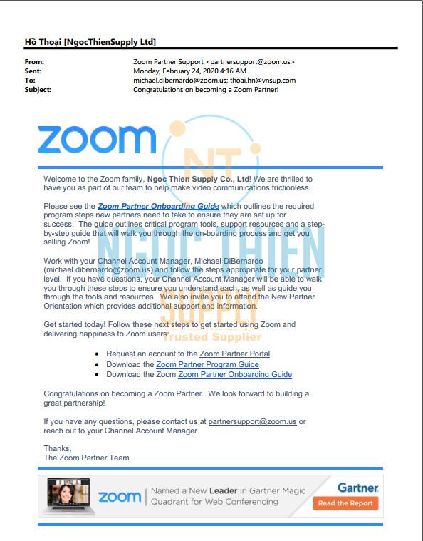 Ký kết hợp tác Zoom + Ngọc Thiên