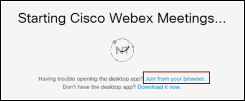 các lỗi thường gặp khi dùng Webex Meetings
