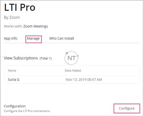 Điều hướng đến tab Manage và nhấp vào Configure.