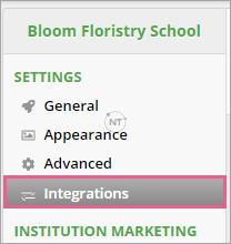 Đăng nhập vào OpenLearning và điều hướng đến Institution Settings > Integrations.