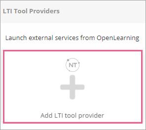 Nhấp vào + Add LTI tool provider.