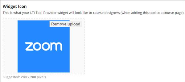 Tải lên biểu trưng của nhà cung cấp công cụ sẽ được sử dụng cho tiện ích.