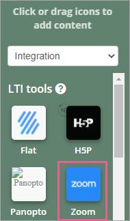 Chuyển đến Widget menu và chọn Tích hợp từ Integration from.