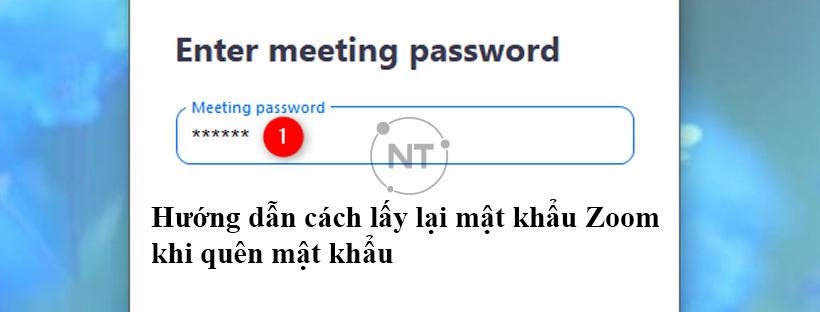 Hướng dẫn cách lấy lại mật khẩu Zoom khi quên mật khẩu