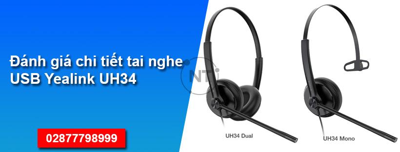 Đánh giá chi tiết tai nghe USB Yealink UH34
