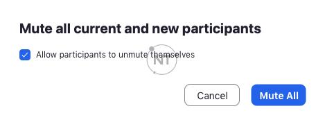 Cho phép người tham gia tự bật tiếng