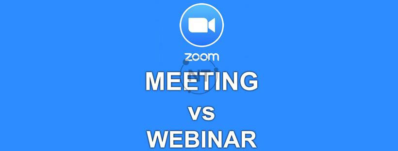 So sánh zoom meeting và webinar
