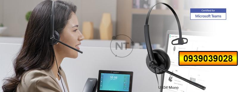 Yealink UH34 Mono là tai nghe USB có dây chuyên nghiệp có kiểu dáng gọn, nhẹ, thoải mái khi đeo, ngay cả khi sử dụng cho cả ngày dài. Tai nghe tích hợp với phần mềm Yealink USB Connect