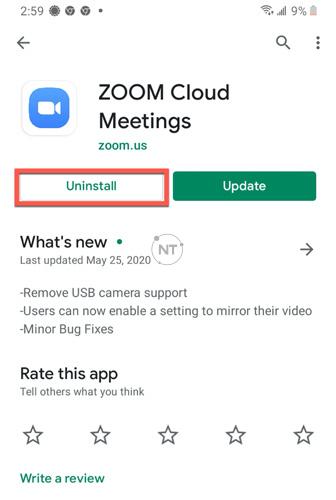 Gỡ cài đặt bằng Cửa hàng Google Play