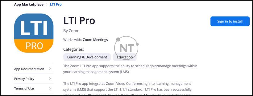 Hướng dẫn cách thiết lập zoom với công cụ học tập (LTI)