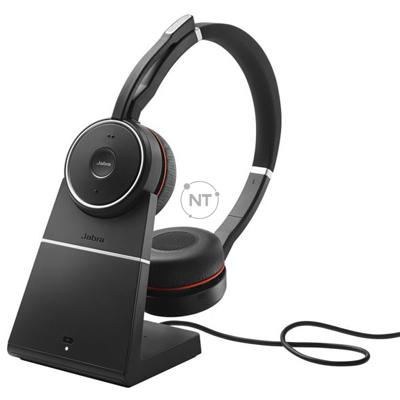 Tai nghe USB Jabra EVOLVE 75 MS Stereo Bluetooth có chân đế sạc: