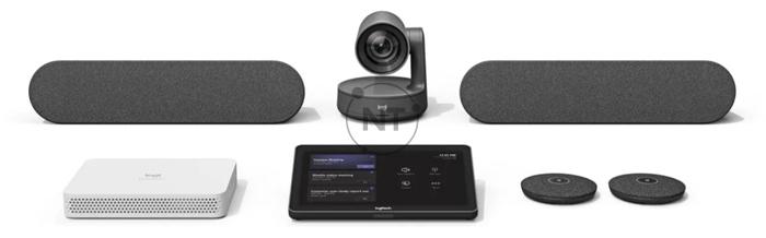 Logitech RoomMate, thiết bị máy tính được chế tạo dành riêng cho hội nghị video, được bao gồm trong giải pháp phòng lớn của bạn.