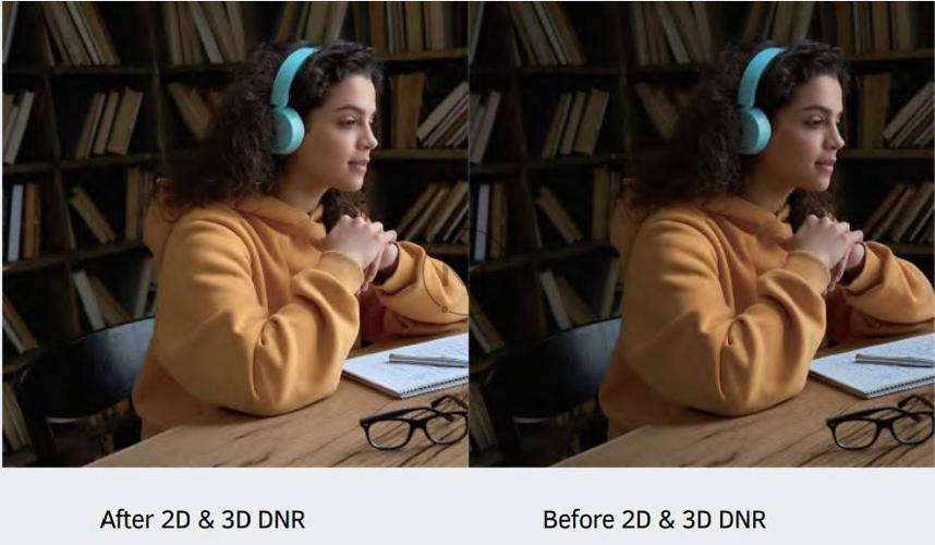 Công nghệ DNR 2D & 3D mang lại hình ảnh sắc nét, rõ ràng