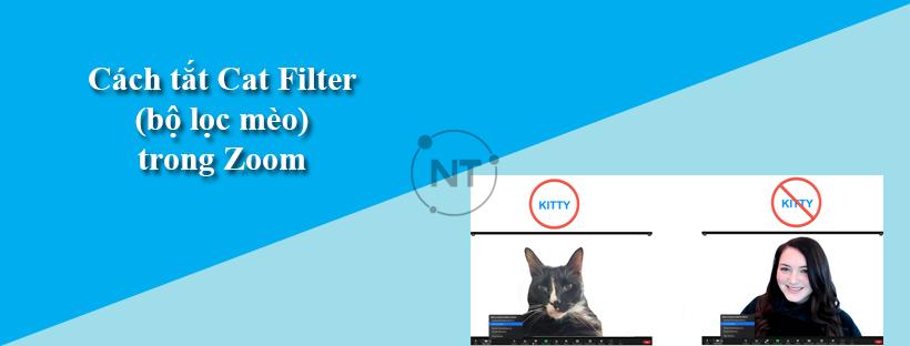 Cách tắt Cat Filter (bộ lọc mèo) trong Zoom