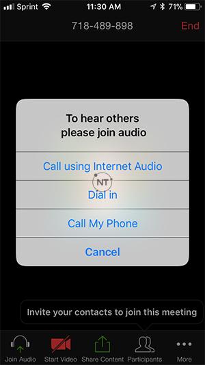 Cách cài đặt âm thanh Zoom trên điện thoại iOS
