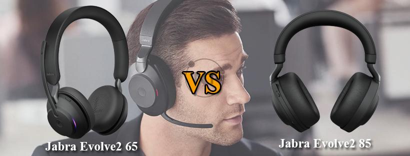 So sánh tai nghe Jabra Evolve2 85 với Jabra Evolve2 65
