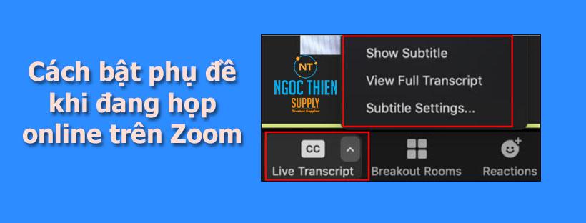 Cách bật phụ đề khi đang họp online trên Zoom