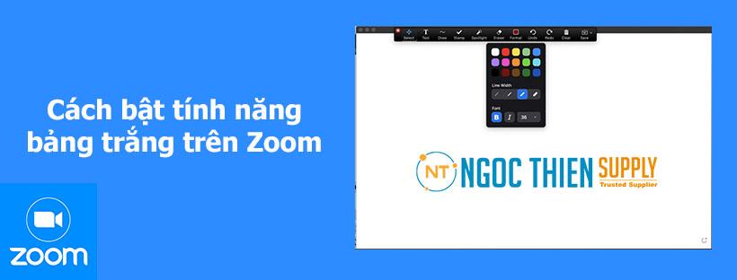Cách bật tính năng bảng trắng trên Zoom