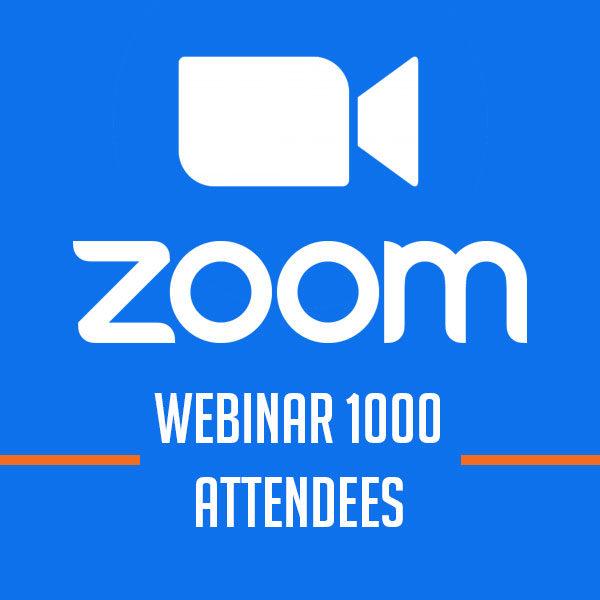Zoom Webinar 1000 Attendees [1 năm]