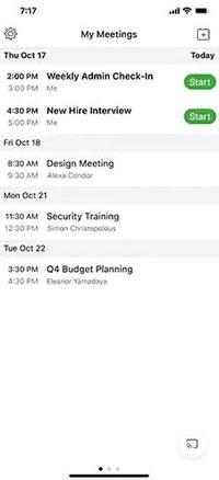 Cách xem các cuộc họp sắp tới trên thiết bị di động