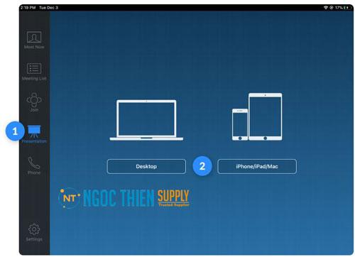 Cách chia sẻ màn hình trên Zoom Rooms