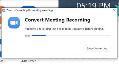 Cách quay lại video trên Zoom trên máy tính