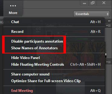 2.3, Kiểm soát chức năng vẽ lên màn hình trong phần mềm zoom