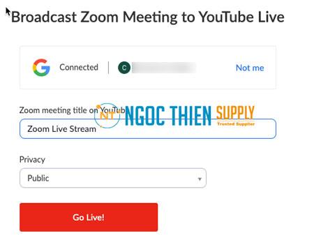 Cách livestream Zoom lên YouTube trên máy tính