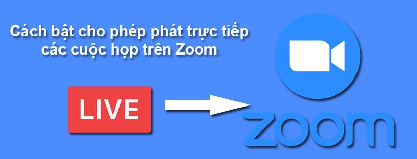 Cách bật cho phép phát trực tiếp các cuộc họp trên Zoom