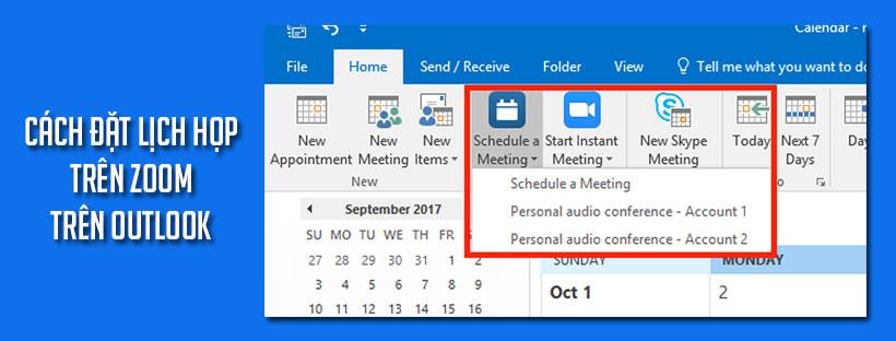 Cách đặt lịch họp trên Zoom trên Outlook