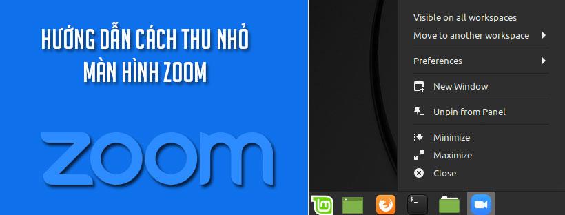 Hướng dẫn cách thu nhỏ màn hình Zoom