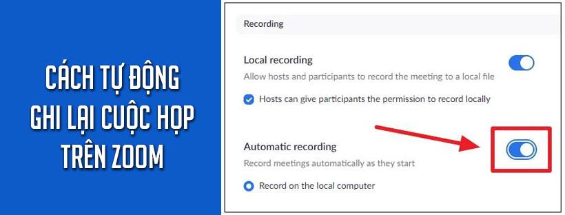Cách tự động ghi lại cuộc họp trên Zoom