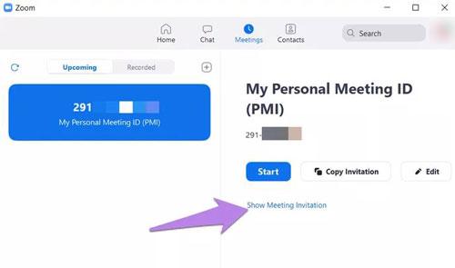 Cách xem mật khẩu cho các cuộc họp đã lên lịch trên Zoom