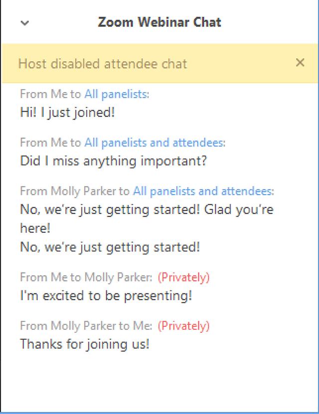Cách sử dụng tính năng chat trên webinar