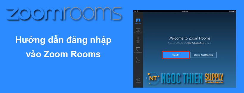 Hướng dẫn đăng nhập vào Zoom Rooms