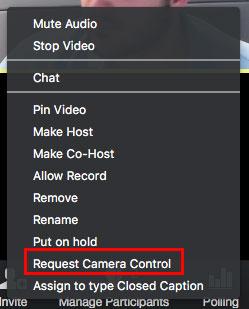 Cách sử dụng tính năng sử dụng điều khiển camera từ xa trên Zoom