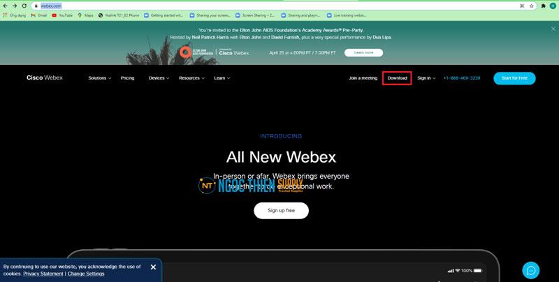 Hướng dẫn tải Webex Meetings trên máy tính