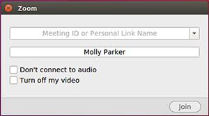 Chọn nếu bạn muốn kết nối âm thanh và / hoặc video và nhấp vào  Tham gia .