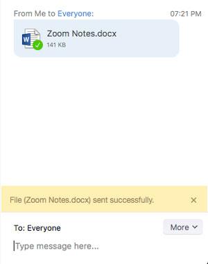 Cách gửi file trong cuộc họp Zoom