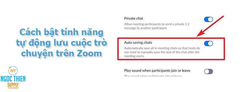 Cách bật tính năng tự động lưu cuộc trò chuyện trên Zoom