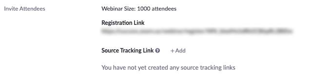 Bên cạnh Source Tracking Link, hãy nhấp vào +Add.