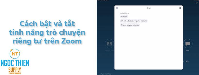 Cách bật và tắt tính năng trò chuyện riêng tư trên Zoom